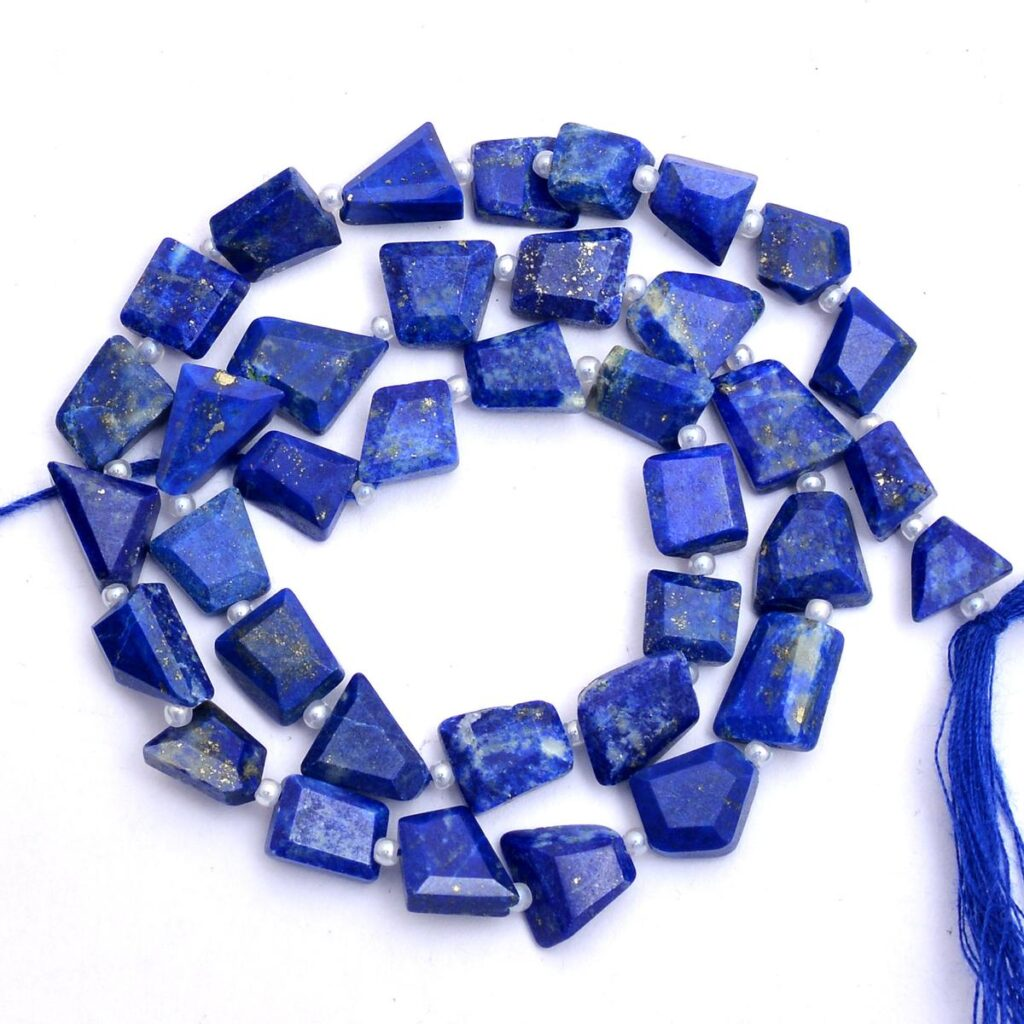 Natural_AAA+_Blue_Lapis_Lazuli_9mm-11mm_Faceted_Nugget_Beads_13inch_Strand